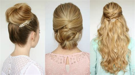 3 easy prom hairstyles missy sue youtube