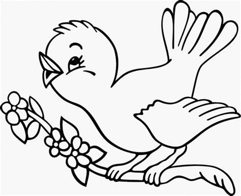 gambar sederhana untuk tk contoh mewarnai gambar burung mewarnai gambar