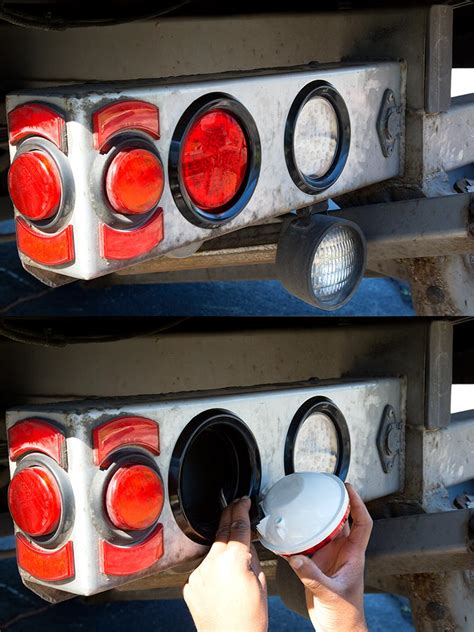 led truck and trailer lights w reflector 4 quot led
