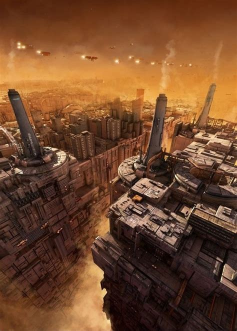 beautiful futuristic  scenes  inspiration noupe