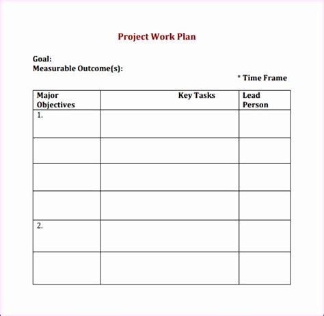 7 Project Management Work Plan Template Excel Exceltemplates Exceltemplates Digital Project Plan Template