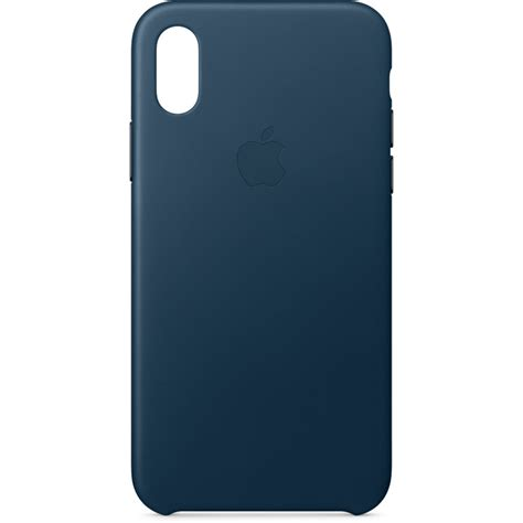 apple x case apple iphone x leather case cosmos blue mqth2zm a b h photo
