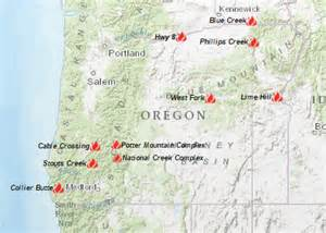 oregon wildfires map oregon smoke information 08 07 2015 status of fires and smoke
