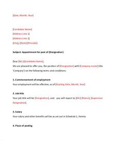 appointment letter format simple appointment letter 10 free word pdf documents