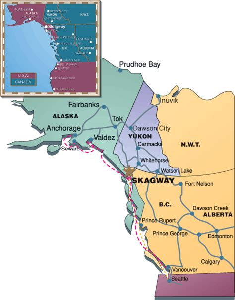 seattle to juneau map getting here skagway alaska tours by packer expeditions