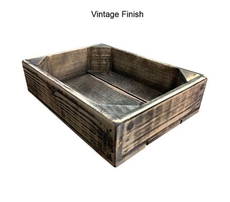 Wooden Tray 225mm mini homewood tray crates4you