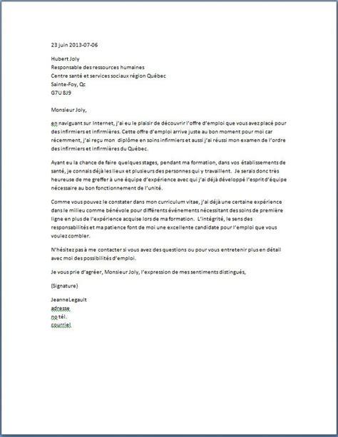 Lettre De Motivation Faisant Suite à Une Recommandation lettre de motivation infirmier infirmi 232 re lettre de motivation