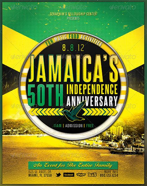 flyer design jamaica jamaica independence church flyer template preview2