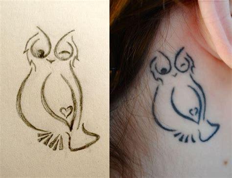 owl tattoo ear behind the ear owl tattoo tattoo and piercing ideas