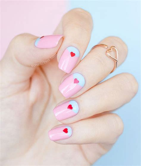 easy valentines nails 15 easy valentine s day nail designs ideas