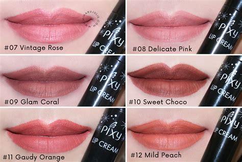 Lipstik Pixy Matte Terbaru baru pixy lip all colours review indonesia