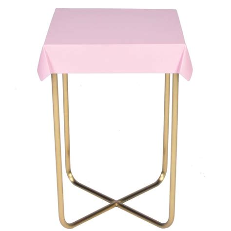 Pink Side Table Drape Side Table Pink Brass For Sale At 1stdibs