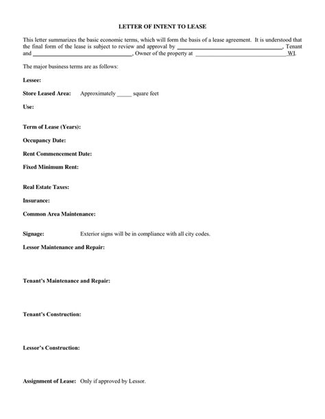 Lease Variation Letter Doc 12001553 Letter Of Intent For Lease Sle Letter Of Intent To Rent Or Bizdoska
