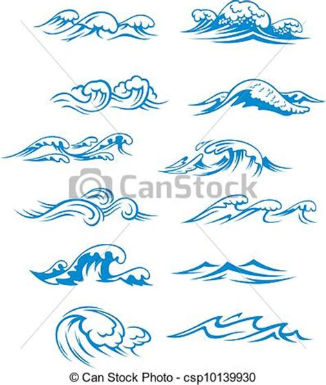 Simple Home Plans Free vectors of ocean waves set isolated on white background