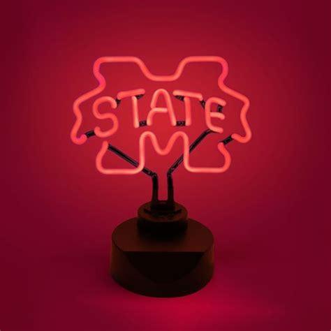 aes collegiate neon light aes optics mississippi state university neon light