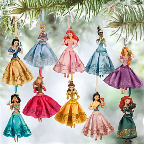 disney princess christmas decorations set of 10