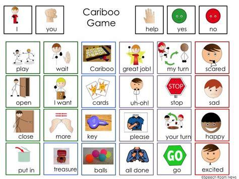 visual communication game design cariboo communication board freebie speech room board