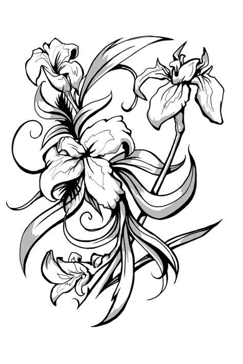 black iris tattoo iris black and white tattoos designs
