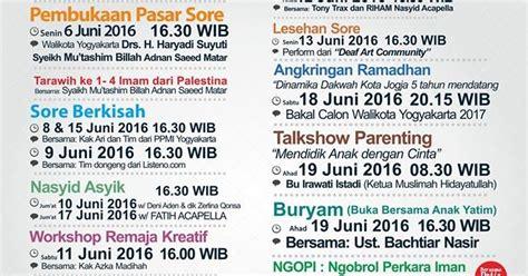 Kaos Dakwah Muslim Pedagang Muslim update jadwal agenda kegiatan koeng ramadhan 1437 h