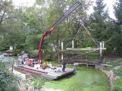 boat dock removal boat lift removal for channel dredging from bruceski s