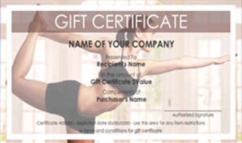 personal gift certificate templates easy to use
