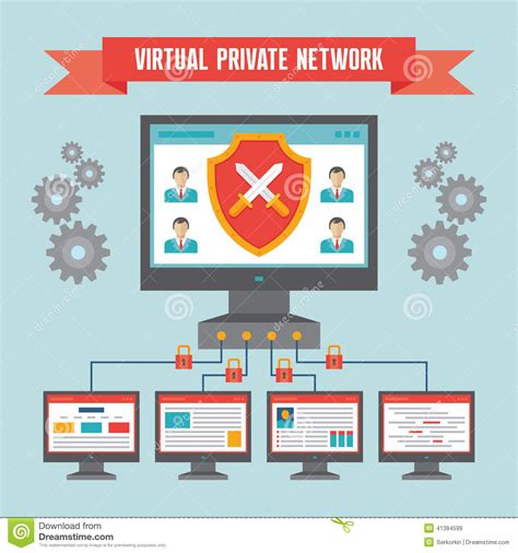 by adding a free virtual private network vpn to its desktop browser vpn virtual private network illustration concept stock