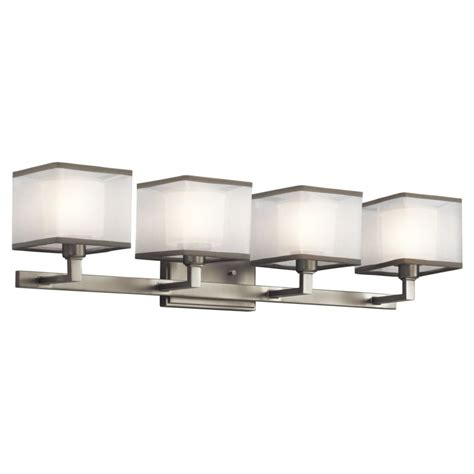 4 bulb bathroom light fixtures kichler 45440ni brushed nickel kailey 30 5 quot wide 4 bulb
