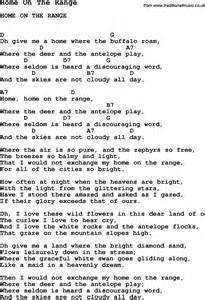 home on the range lyrics song home on the range song lyric for vocal performance