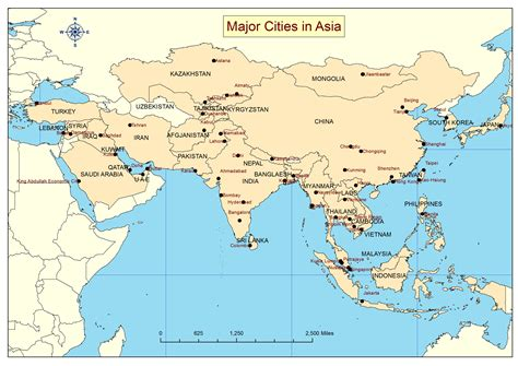asia map with cities maps of asian cities world map weltkarte peta dunia