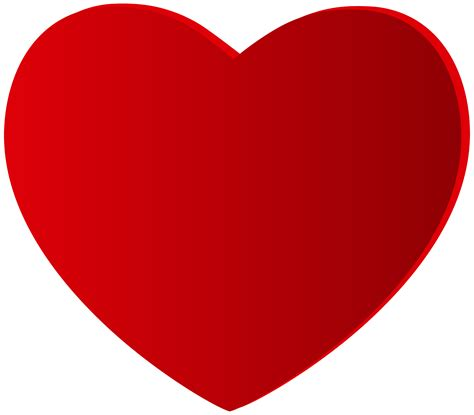 Large red heart png clipart best web clipart