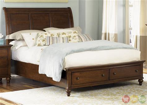 Hamilton Bedroom Furniture Hamilton Traditional Cinnamon Finish Storage Bedroom Set