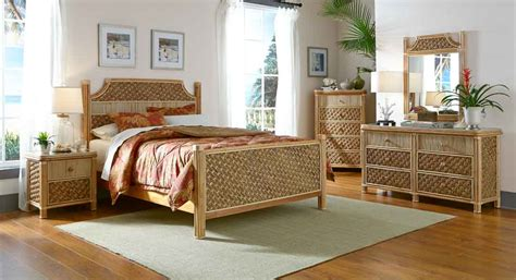 Rattan King Bedroom Set by Wicker Nassau Rattan Bedroom Sets Wicker