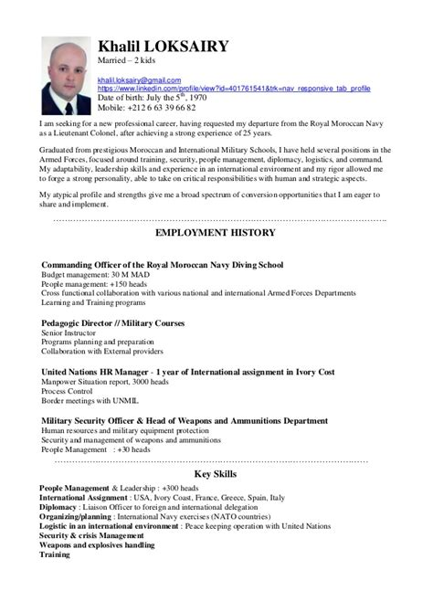 Resume Of A Teacher Sample by Khalil Loksairy Cv English Version