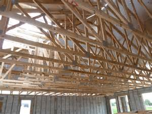Prefabricated Roof Trusses installed prefabricated engineered wood roof trusses