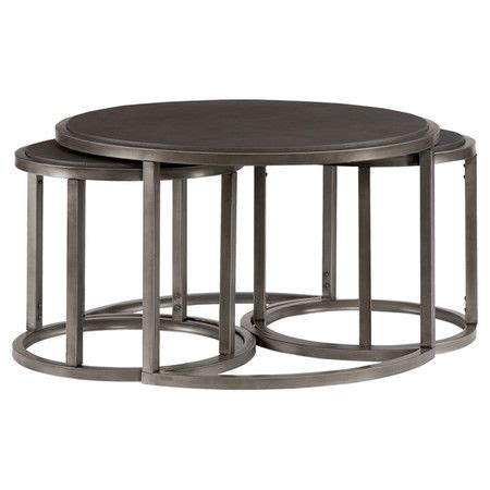 Coffee Table With Nesting Stools 38 Best Images About Home Furniture On Pinterest Nesting Tables Ottomans And Glass