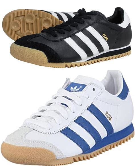 Adidas Rom Black Original adidas originals rom mens trainers white or black g44184