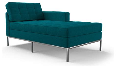 blue chaise lounge indoor franklin single arm chaise lucky turquoise blue