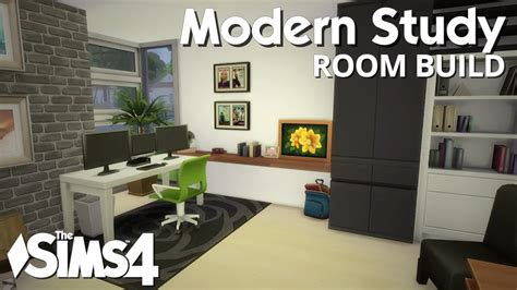Sims 3 Kitchen Ideas by The Sims 4 Room Build Modern Study Youtube