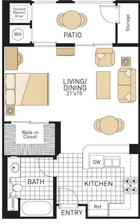 studio floor plan studio apartment plan and layout design with storage