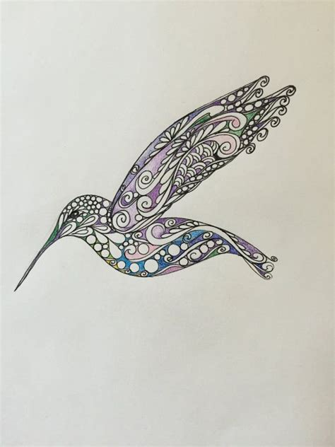watercolor zentangle tattoo best 25 hummingbird ideas on hummingbird