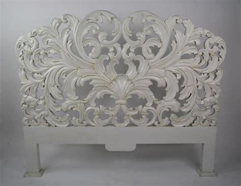 rococo headboard french white distressed king size rococo headboard ebay