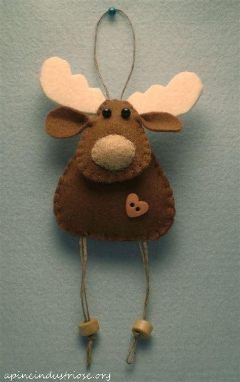 pattern for a felt reindeer felt reindeer ornament for 2014 christmas tree decor