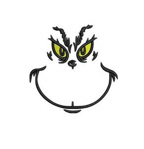 best photos of grinch face svg grinch face template