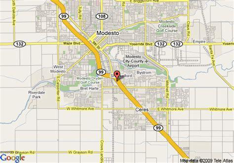 Garden City Modesto by Modesto California Map