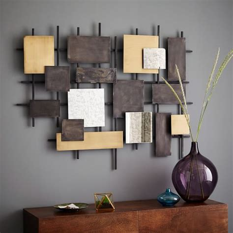 Wall Art metal mirror wall art west elm