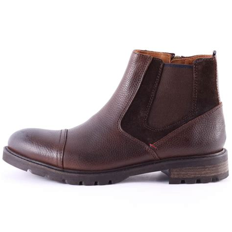 hilfiger mens boots hilfiger curtis 11a mens chelsea boots in coffee