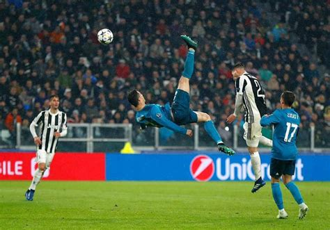 ronaldo juventus bicycle kick cristiano ronaldo s outrageous bicycle kick caps emphatic 3 0 win for real madrid against