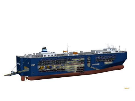car carrier vessels on ships cruise ships and cutaway