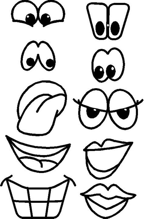 printable eye shapes printable eyes nose mouth templates places to visit