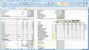 Cost Sheet Template Excel by Cost Estimating Sheet With Excel For The General Contractor